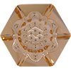 Swarovski 4681 Vision Hexagon Fancy Stone Light Peach 14mm