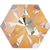 Swarovski 4699 Kaleidoscope Hexagon Fancy Stone Crystal Peach DeLite 6x6.9mm