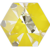 Swarovski 4699 Kaleidoscope Hexagon Fancy Stone Crystal Sunshine DeLite 20x22.9mm