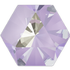 Swarovski 4699 Kaleidoscope Hexagon Fancy Stone Crystal Lavender DeLite 20x22.9mm