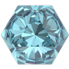 Swarovski 4699 Kaleidoscope Hexagon Fancy Stone Aquamarine 14x16mm