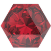 Swarovski 4699 Kaleidoscope Hexagon Fancy Stone Scarlet 6x6.9mm