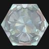 Swarovski 4699 Kaleidoscope Hexagon Fancy Stone Crystal Serene Gray DeLite 6x6.9mm
