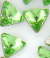 Swarovski 4704 Mini Triangles Fancy Stone Peridot 5mm