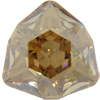 Swarovski 4706 Trilliant Fancy Stone Crystal Golden Shadow 12mm