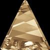 Swarovski 4717 Delta Fancy Stone Crystal Golden Shadow 15.5mm