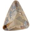 Swarovski 4727 Triangle Fancy Stone Crystal Golden Shadow 23mm