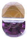 Swarovski 4728 Vintage Moon Shape Fancy Stone Amethyst 10x7.5mm