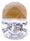 Swarovski 4728 Vintage Moon Shape Fancy Stone Crystal 10x7.5mm