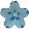 Swarovski 4744 Flower Fancy Stone Aquamarine 10mm