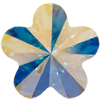 Swarovski 4744 Flower Fancy Stone Crystal AB 10mm