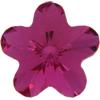 Swarovski 4744 Flower Fancy Stone Fuchsia 6mm