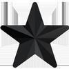 Swarovski 4745 Rivoli Star Fancy Stone Jet 10mm