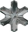 Swarovski 4747 Rivoli Sonwflake Fancy Stone Jet 5mm