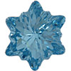 Swarovski 4753 Edelweiss Fancy Stone Aquamarine 18mm
