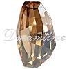 Swarovski 4760 Calypso Fancy Stone Crystal Golden Shadow  22x12.5mm