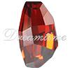 Swarovski 4760 Calypso Fancy Stone Crystal Red Magma  22x12.5mm