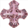 Swarovski 4784 Greek Cross Fancy Stone Crystal Antique Pink 14mm