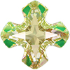 Swarovski 4784 Greek Cross Fancy Stone Crystal Luminous Green 14mm