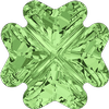 Swarovski 4785 Clover Fancy Stone Peridot 14mm
