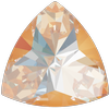 Swarovski 4799 Kaleidoscope Triangle Fancy Stone Crystal Peach DeLite 14x14.3mm