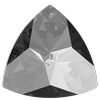 Swarovski 4799 Kaleidoscope Triangle Fancy Stone Crystal Silver Night 14x14.3mm