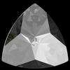 Swarovski 4799 Kaleidoscope Triangle Fancy Stone Crystal Silver Night 20x20.4mm