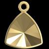 Swarovski 4799/J Kaleidoscope Triangle Fancy Stone Setting Gold14x14.3mm