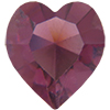 Swarovski 4800 Heart Fancy Stone Amethyst (Unfoiled) 15.4x14mm