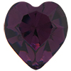 Swarovski 4800 Heart Fancy Stone Amethyst (Gold Foil) 11x10mm