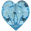 Swarovski 4800 Heart Fancy Stone Aquamarine (Gold Foil) 11x10mm