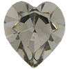 Swarovski 4800 Heart Fancy Stone Black Diamond 8.8x8mm