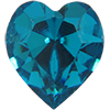 Swarovski 4800 Heart Fancy Stone Blue Zircon 6.6x6mm