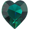 Swarovski 4800 Heart Fancy Stone Emerald (Unfoiled) 15.4x14mm