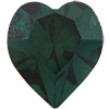 Swarovski 4800 Heart Fancy Stone Emerald (Gold Foil) 11x10mm