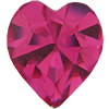 Swarovski 4800 Heart Fancy Stone Fuchsia 8.8x8mm