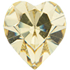 Swarovski 4800 Heart Fancy Stone Jonquil 6.6x6mm