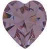 Swarovski 4800 Heart Fancy Stone Light Amethyst (Gold Foil) 11x10mm