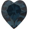 Swarovski 4800 Heart Fancy Stone Montana 8.8x8mm