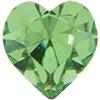 Swarovski 4800 Heart Fancy Stone Peridot 5.5x5mm