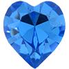 Swarovski 4800 Heart Fancy Stone Sapphire (Gold Foil) 11x10mm
