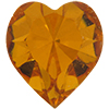 Swarovski 4800 Heart Fancy Stone Topaz (Gold Foil) 11x10mm