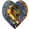 Swarovski 4800 Heart Fancy Stone Crystal Vitrail Medium (Gold Foil) 15.4x14mm