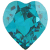 Swarovski 4801 Heart Fancy Stone Blue Zircon 8.8x8mm