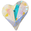 Swarovski 4809 Sweet Heart Fancy Stone Crystal AB 17x15.5mm