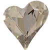 Swarovski 4809 Sweet Heart Fancy Stone Crystal Silver Shade 27x25mm