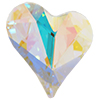 Swarovski 4810 Sweet Heart Fancy Stone Crystal AB 13x12mm