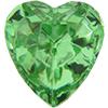 Swarovski 4813 Heart Fancy Stone Peridot 6.5x6mm