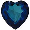 Swarovski 4827 Large Heart Shaped Fancy Stone Crystal Bermuda Blue 28mm