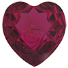 Swarovski 4827 Large Heart Shaped Fancy Stone Fuchsia (Unfoiled) 28mm